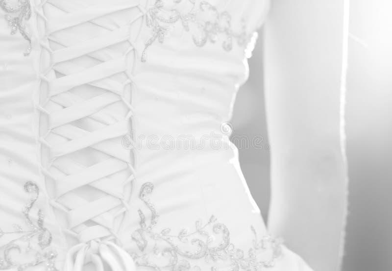 De bruids toga van het lijfje stock foto's