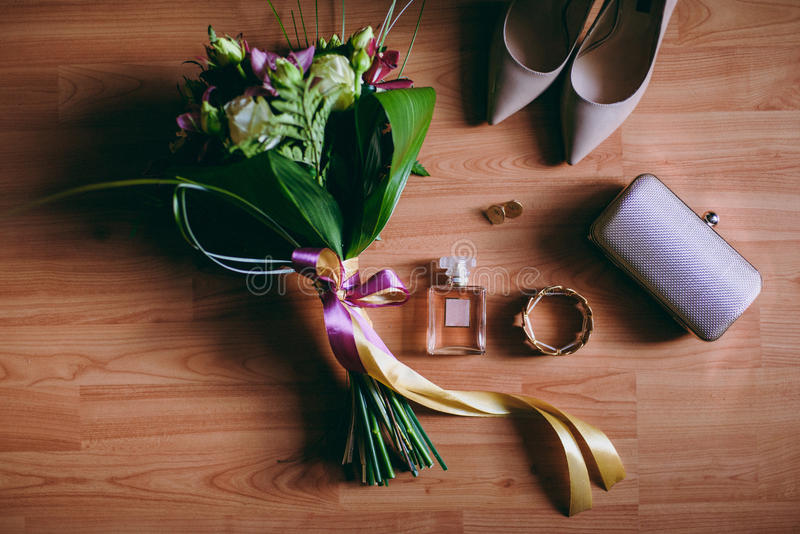 De bruidsmeisjekleding stock fotografie