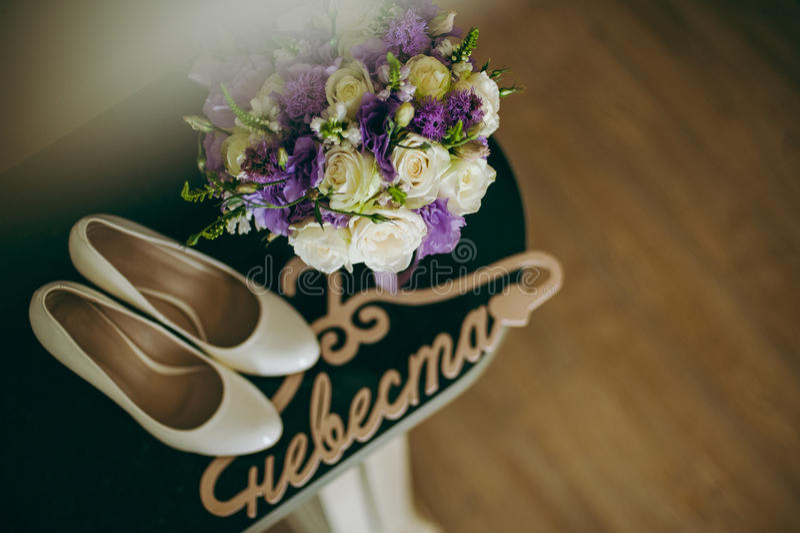 De bruidsmeisjekleding royalty-vrije stock afbeelding