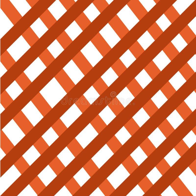 De bruine abstracte achtergrond van het netwerk criss dwars symmetrische patroon royalty-vrije illustratie