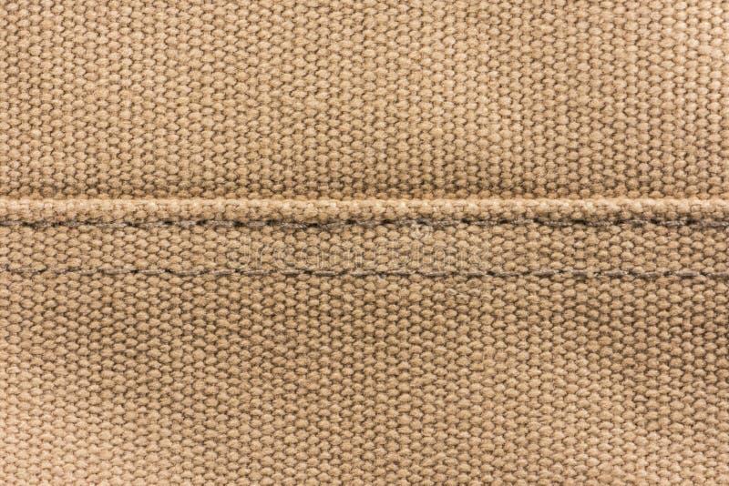 De bruine achtergrond van de canvastextuur royalty-vrije stock afbeelding