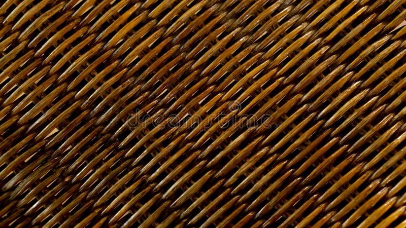 de bruine achtergrond van de het patroontextuur van het Rotanweefsel stock foto's