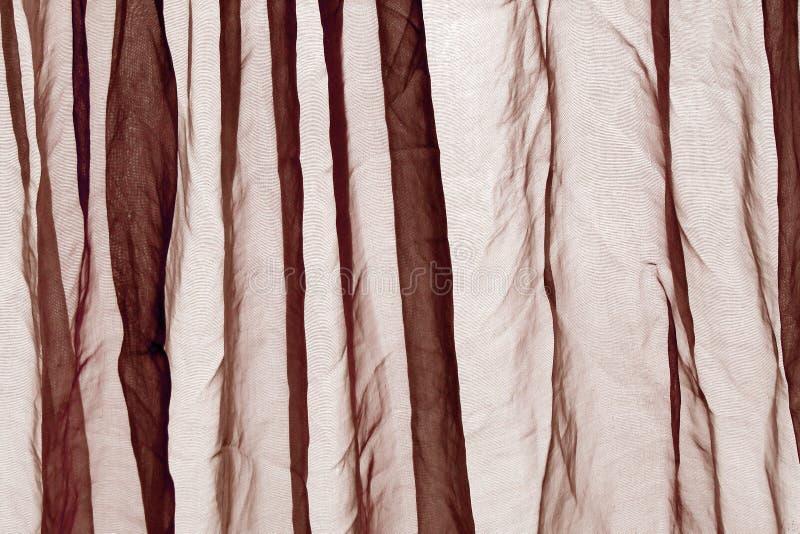 De bruine achtergrond van het voilegordijn stock foto's
