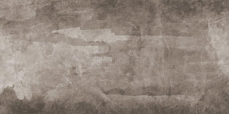 De bruine grijze verfachtergrond met zachte waterverfwas en de korrelige document textuur in sepia kleuren achtergrondontwerp royalty-vrije illustratie