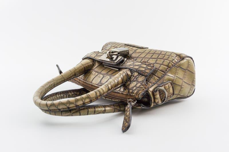 De bruine Handtas van Leerdames. royalty-vrije stock afbeelding