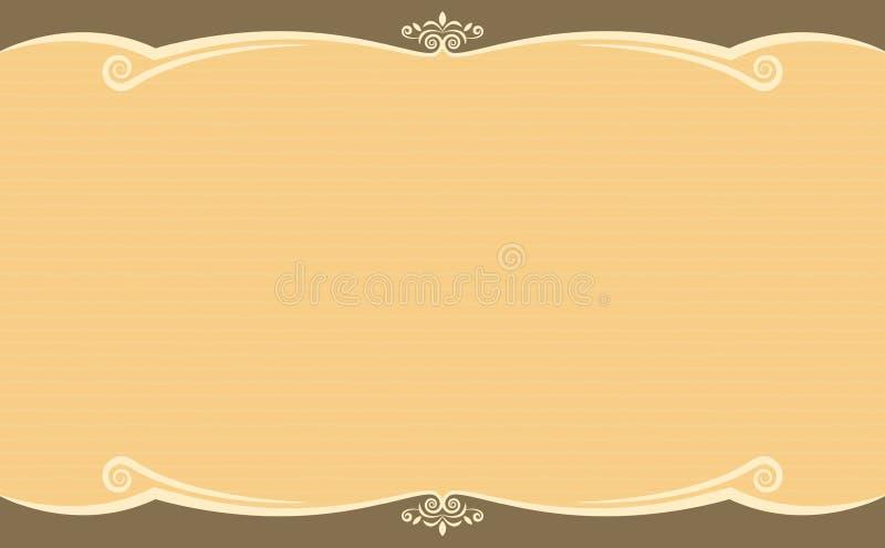 De Bruine Kleur van het ornamentmalplaatje royalty-vrije illustratie