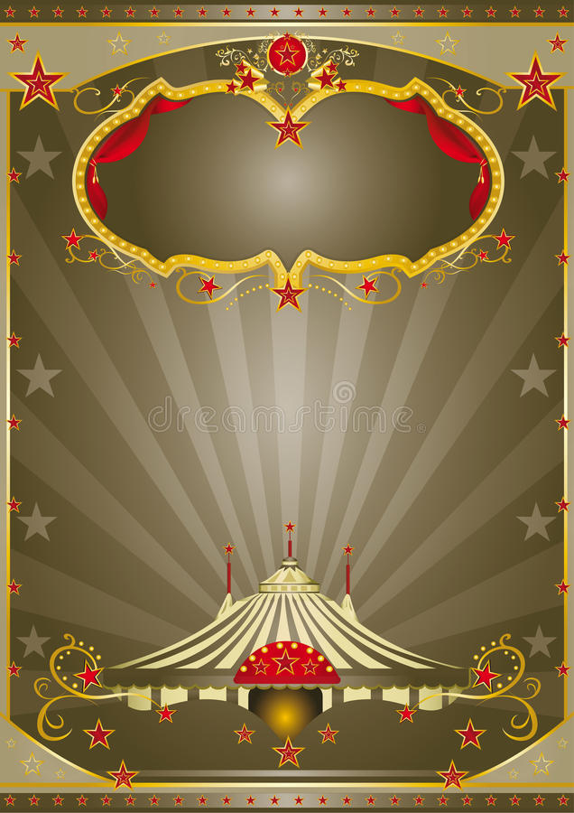 De bruine Nacht van het Circus stock illustratie