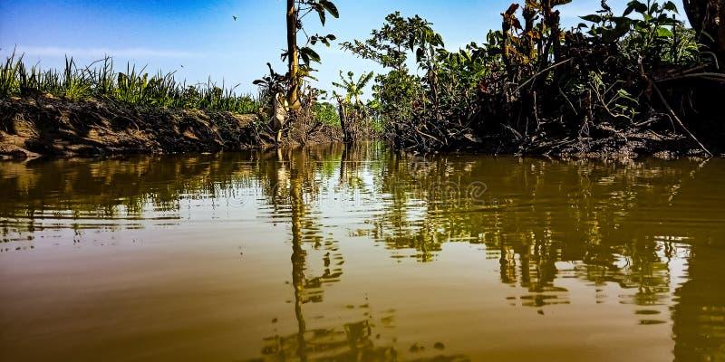 De bruine rivier stock afbeelding