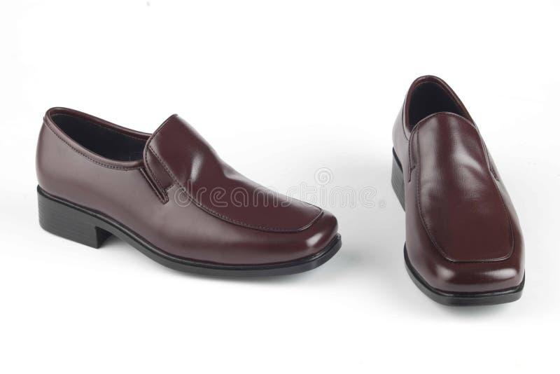 De Bruine Schoenen van mensen stock foto