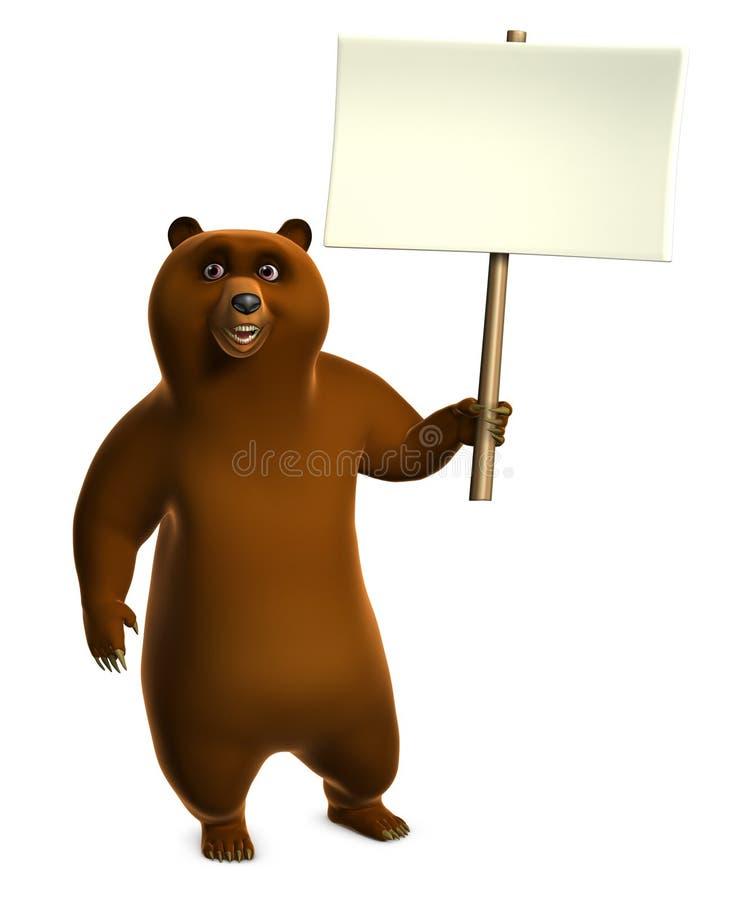 De bruine spatie van de grizzlyholding stock illustratie
