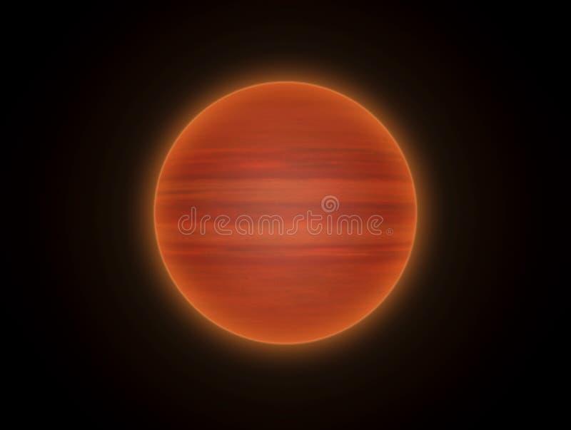 De bruine ster van Dwergen stock illustratie