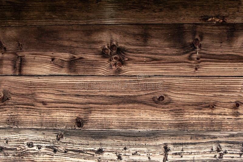 De de bruine Textuur en Achtergrond van Muurplanken Oude Uitstekende Houten Grunge-Oppervlakte royalty-vrije stock foto's