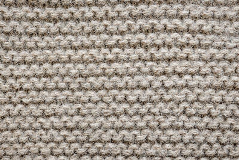 De bruine wol breit textuur royalty-vrije stock afbeelding