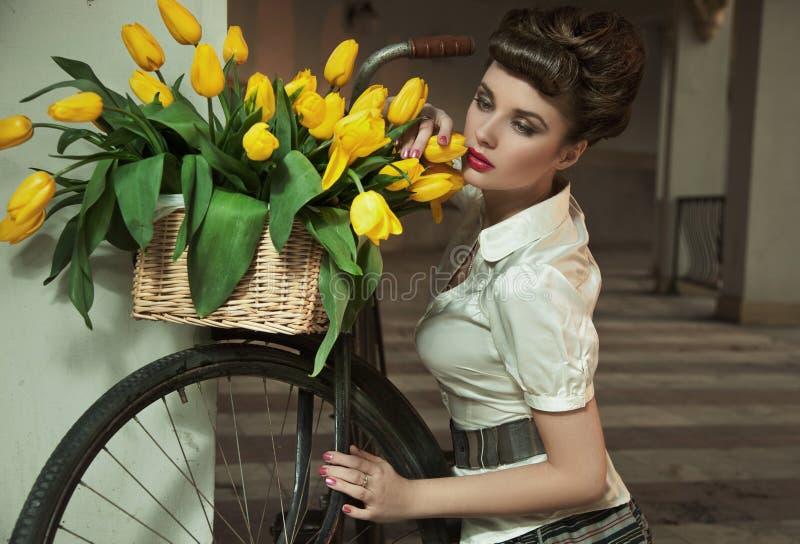 De brunette van de schoonheid stock foto's