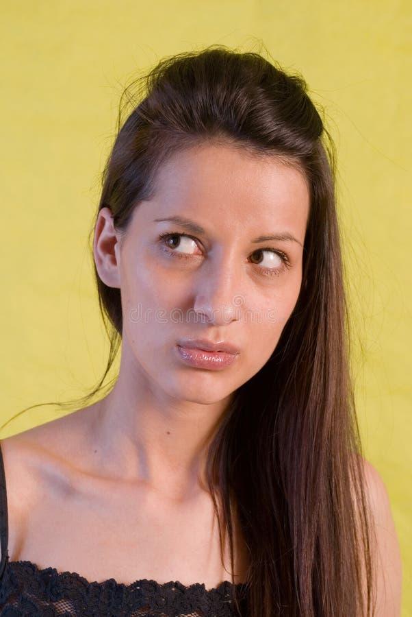 De brunette van het portret stock afbeelding