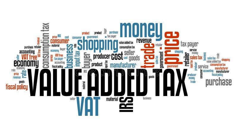 De BTW Belasting op de toegevoegde waarde vector illustratie