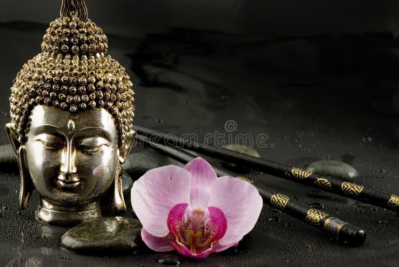 De Buddha vida ainda fotografia de stock royalty free