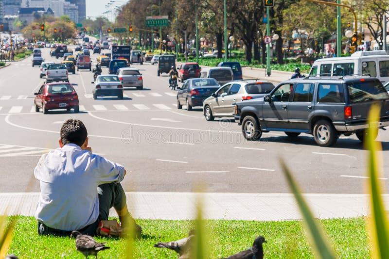 De Buenos Aires cidade para baixo fotografia de stock royalty free