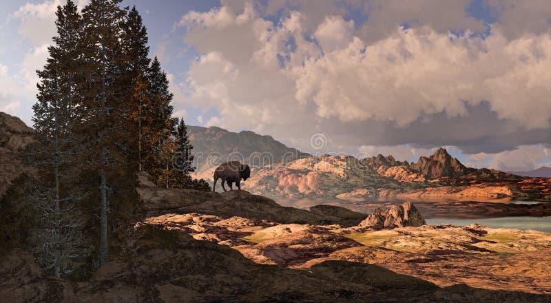 De Buffels van de berg royalty-vrije illustratie
