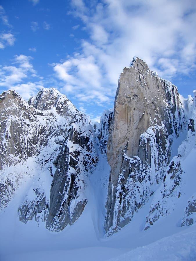 De Bugaboo-Spitsenbergen, een bergketen in de Purcell-Bergen, het Provinciale Park van Bugaboo, Britisch Colombia stock afbeelding