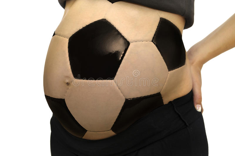 De buik van de voetbal stock foto's