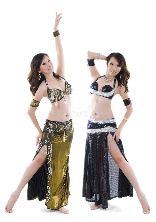 De buikdanser van het duet stock foto
