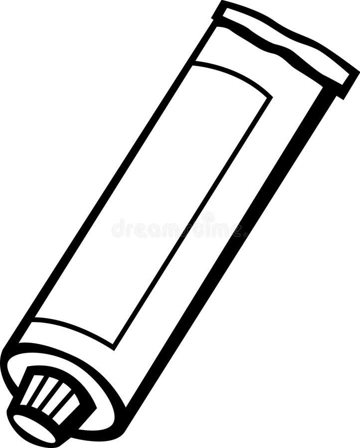 De buis van de tandpasta of van de verf royalty-vrije illustratie