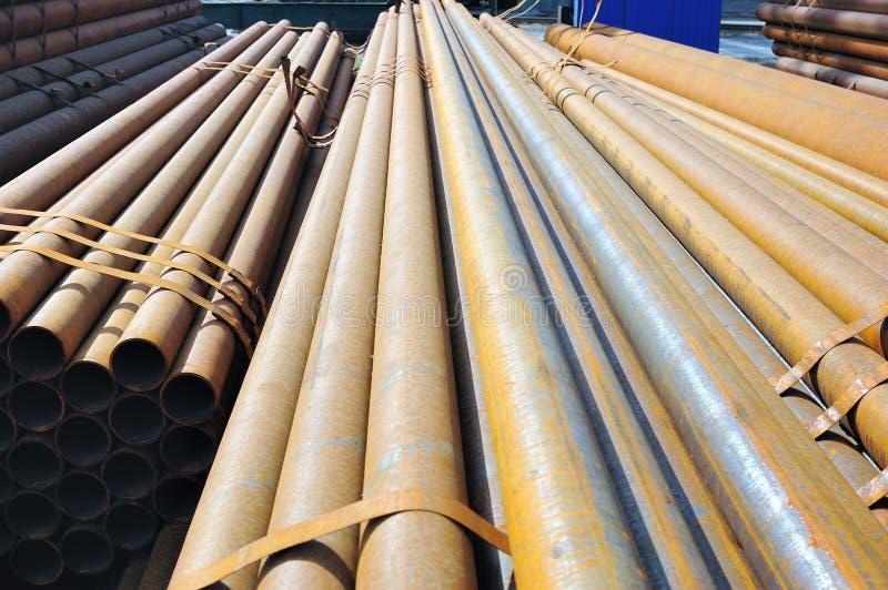 De buis van het staal stock afbeelding