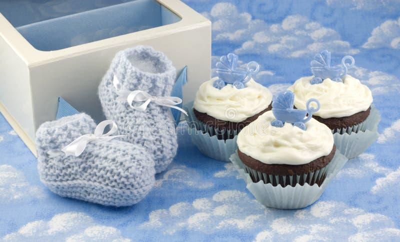 De Buiten van Cupcakes en van de Baby voor Jongen royalty-vrije stock fotografie