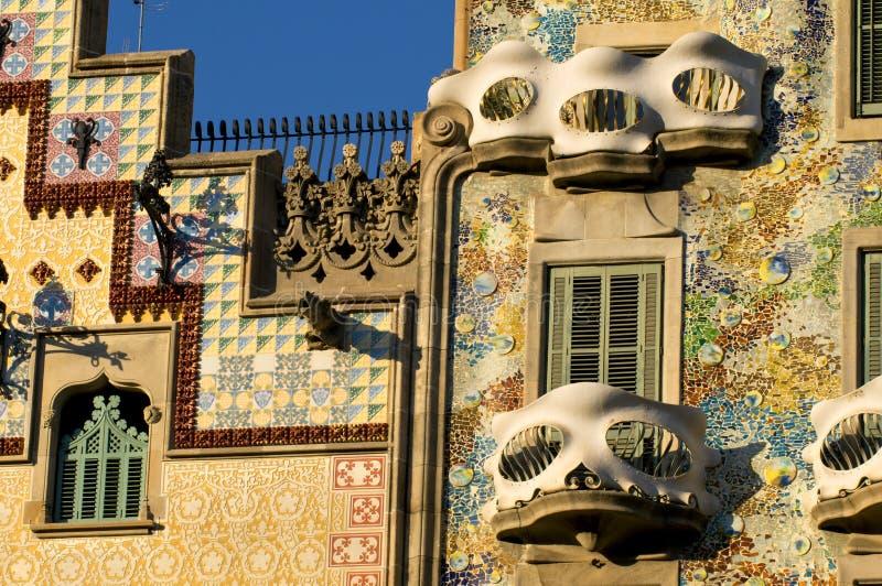 De buitenkant van Casabattlo Barcelona stock fotografie