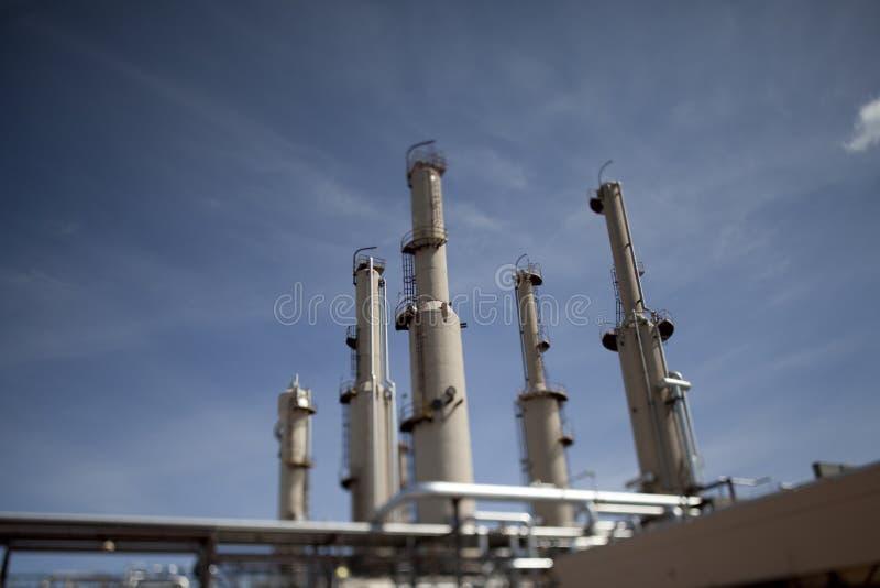 De Buitenkant van de Installatie van de Compressor van het gas stock foto's