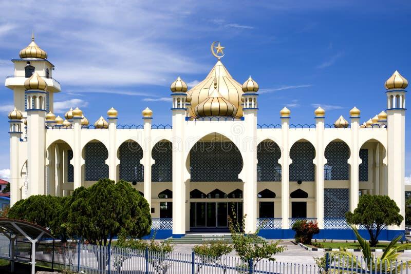 De buitenkant van de moskee stock foto