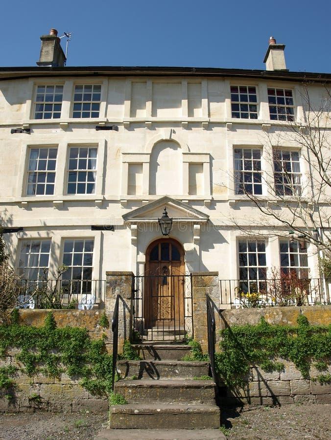 De Buitenkant van het Rijtjeshuis van Londen stock afbeeldingen