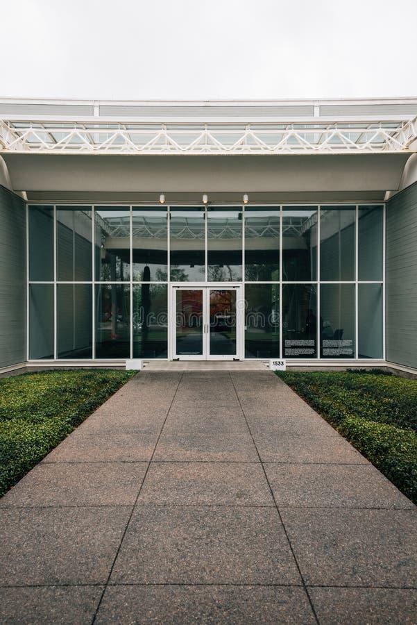 De buitenkant van de Menil-Inzameling, in Houston, Texas royalty-vrije stock fotografie