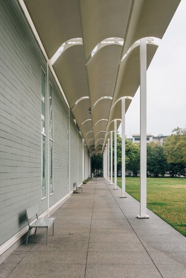De buitenkant van de Menil-Inzameling, in Houston, Texas stock fotografie