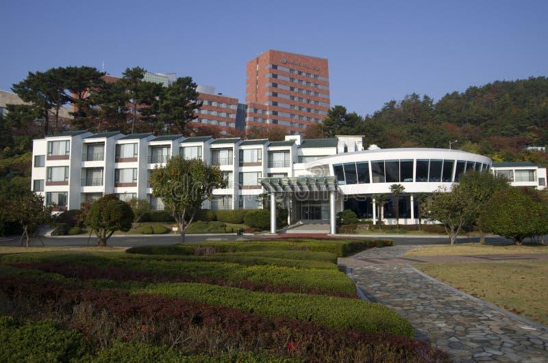 De buitenkanten van het Sumsunghotel royalty-vrije stock foto