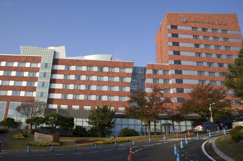 De buitenkanten van het Sumsunghotel stock afbeelding