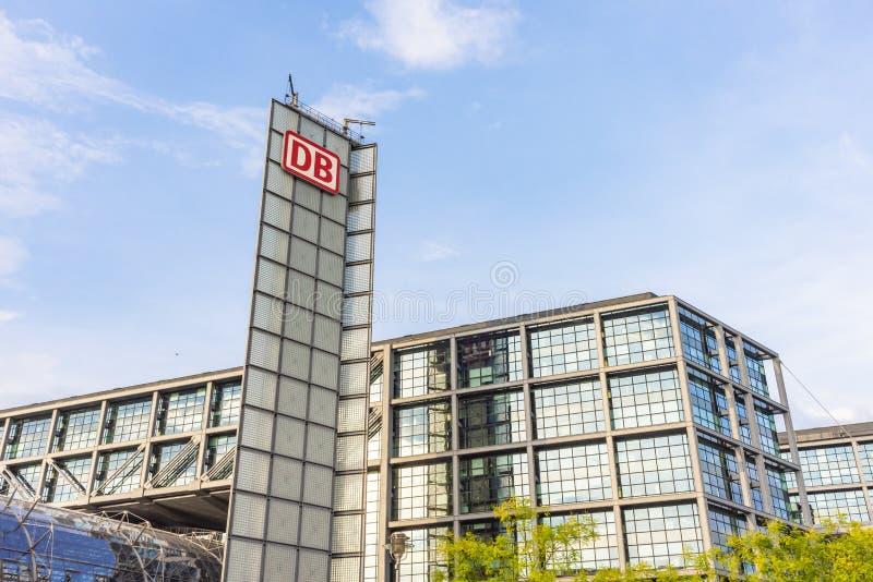 De buitenmening Duitsland van Berlijn hauptbahnhof stock foto