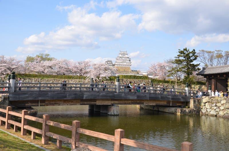 De buitenmuur van het Kasteel van Himeji stock afbeeldingen