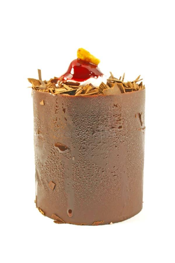 De buitensporige Cake van de Chocolade stock foto