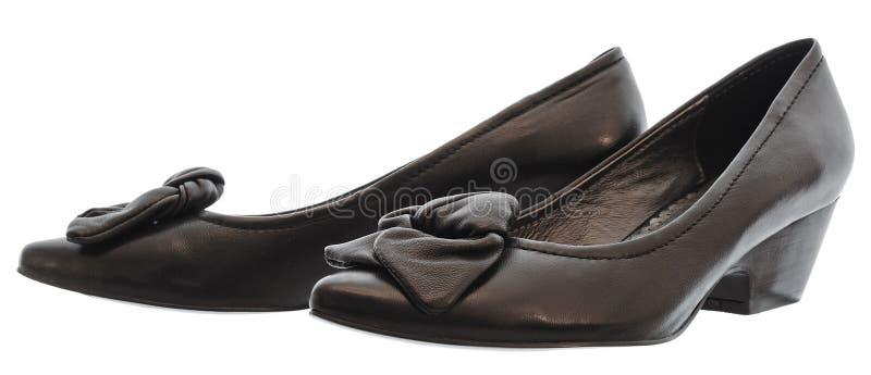 De buitensporige schoen van het leer stock foto's