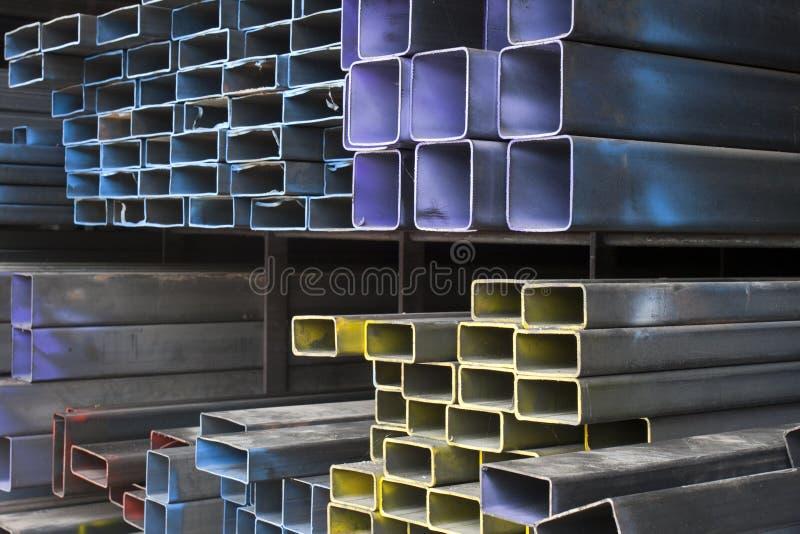 De buizen van het metaal stock afbeelding