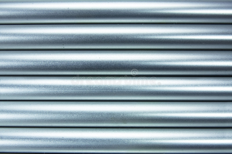 De buizenachtergrond van het aluminium royalty-vrije stock foto
