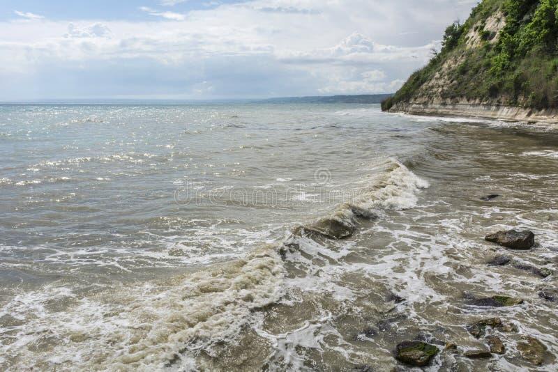 De Bulgaarse kust van de Zwarte Zee royalty-vrije stock fotografie