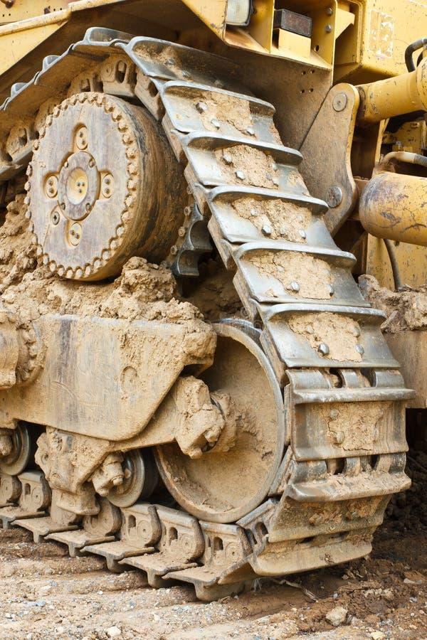 De bulldozer van het spoor stock afbeelding