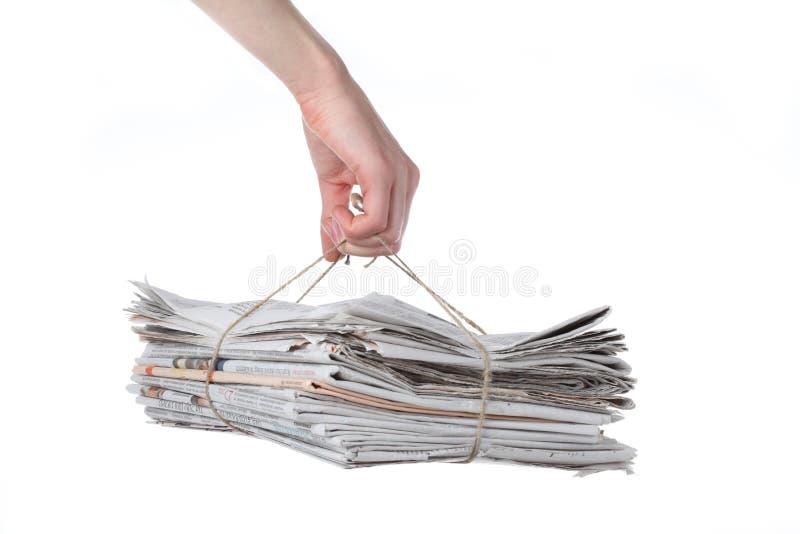 De bundel van de krant royalty-vrije stock fotografie