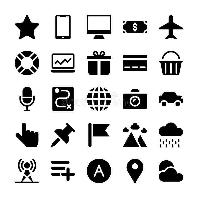 De Bundel van interfacepictogrammen stock illustratie
