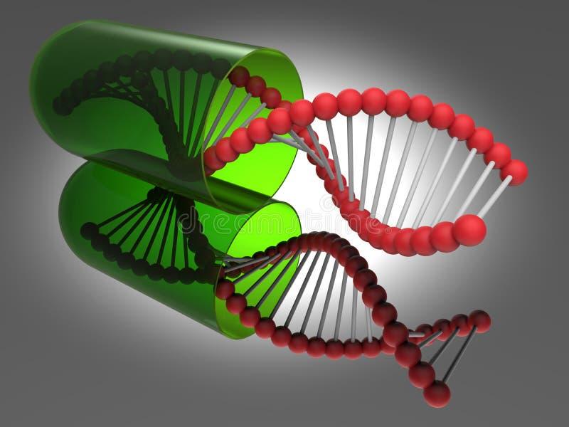 De bundelcapsule van vlek lichte DNA stock illustratie