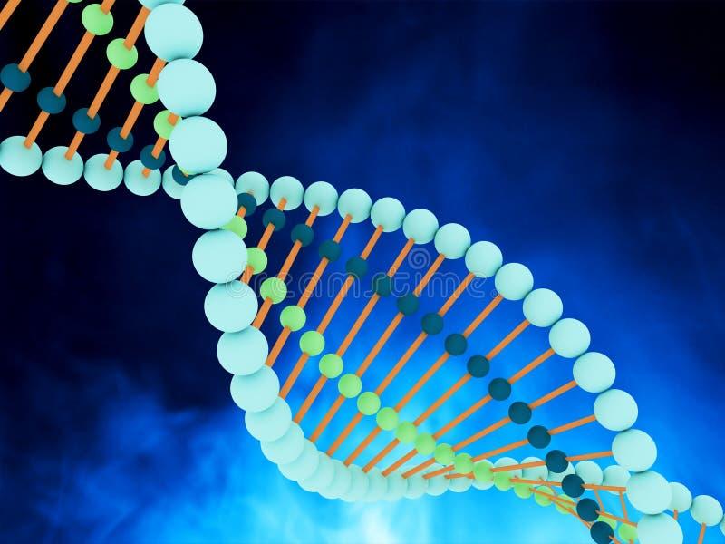 De Bundels van DNA royalty-vrije illustratie