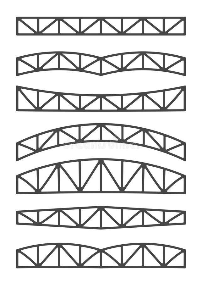 De bundels van het staalmetaal vector illustratie